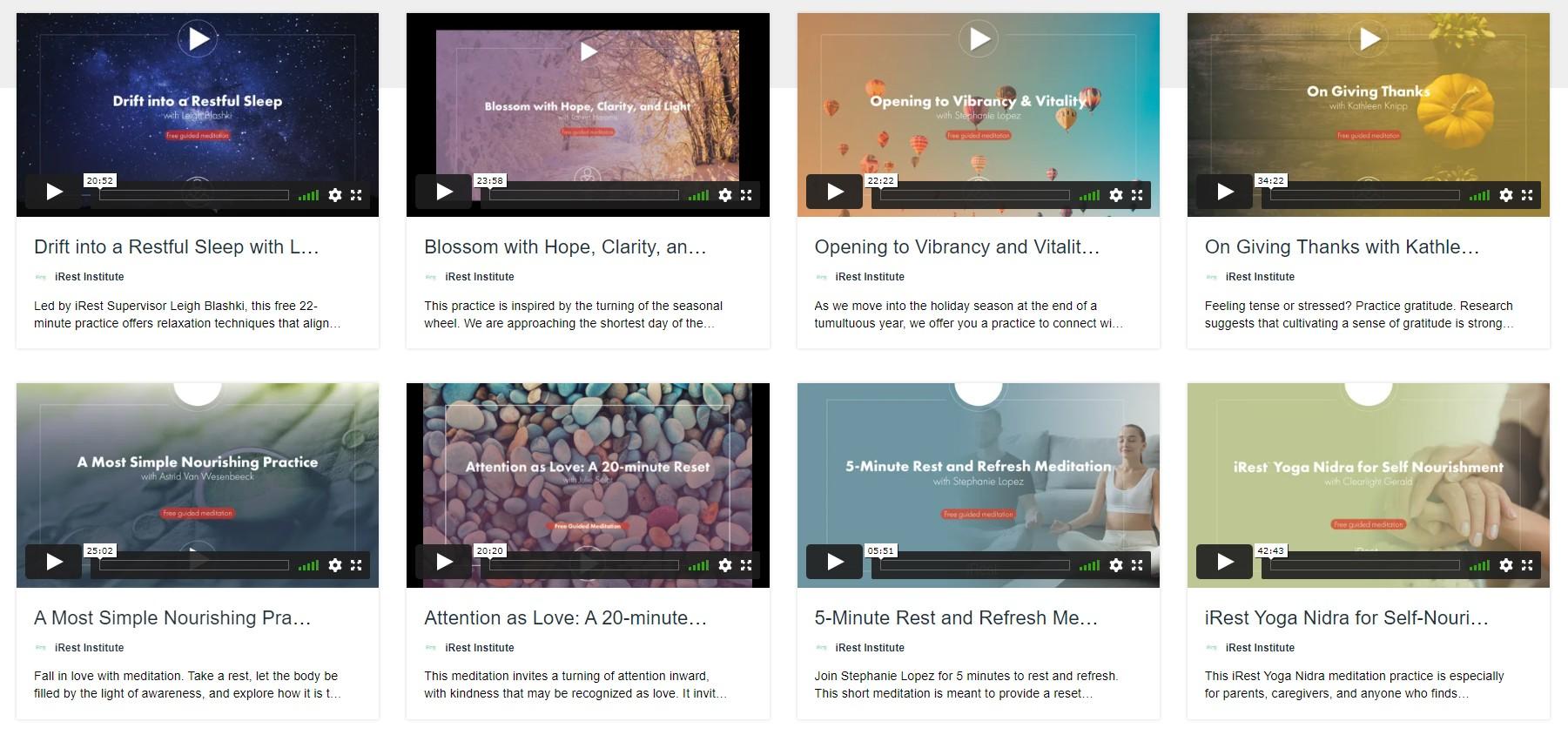 iRest on Vimeo, screenshot, February 2021-2